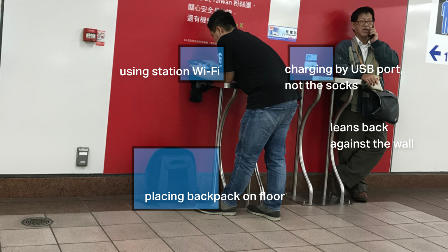 How people using the charging station